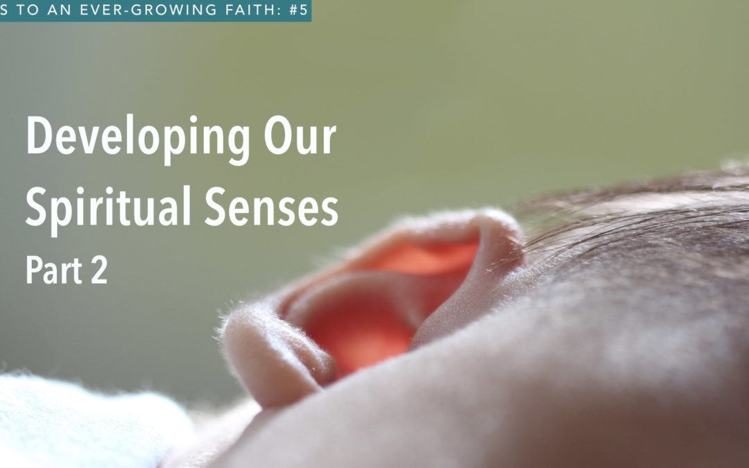 Developing Our Spiritual Senses – Part 2